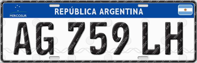 Matricula Mercosur